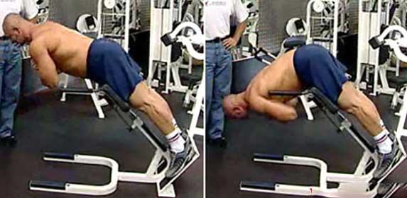 Гиперэкстензия для тренировки мышц спины