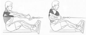Выполнение тяги горизонтального блока к поясу рисунок