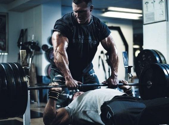 Тренировка грудь ноги