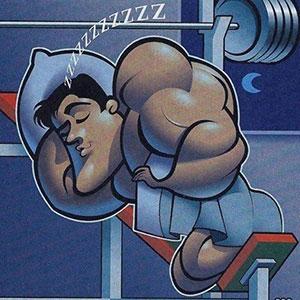 Качок спит карикатура.