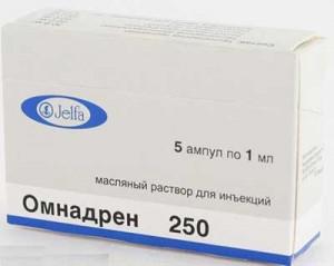 Упаковка Омнадрен-250 фото.